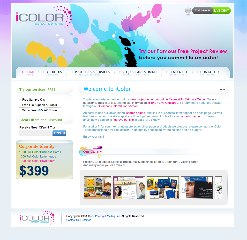 Full color printing company - Printing Company Website